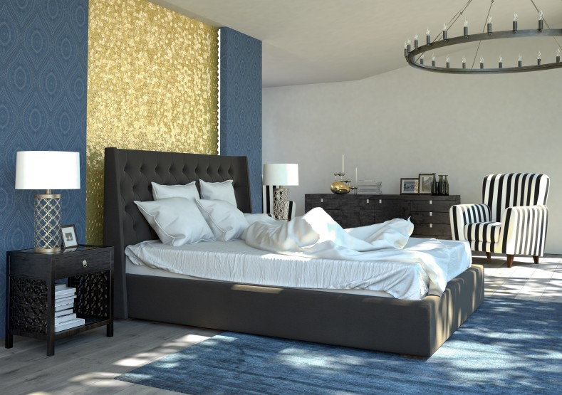 luxus schlafzimmer schwarz wei neuesten design kollektionen f r die familien. Black Bedroom Furniture Sets. Home Design Ideas
