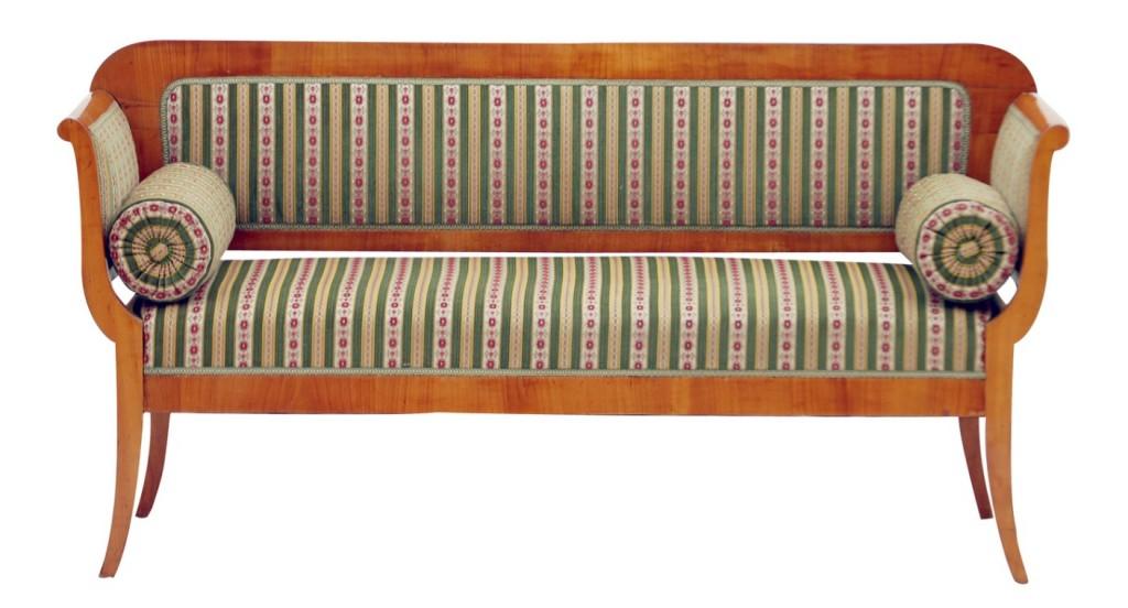 Biedermeiermöbel: Sofa in erstklassigem Zustand als Beispiel für schnörkellose Eleganz (#4)