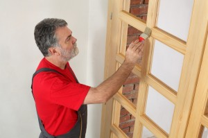 Schwieriges Unterfangen: Streichen und Lackieren einer Zimmertür mit Glaseinsatz. (#2)
