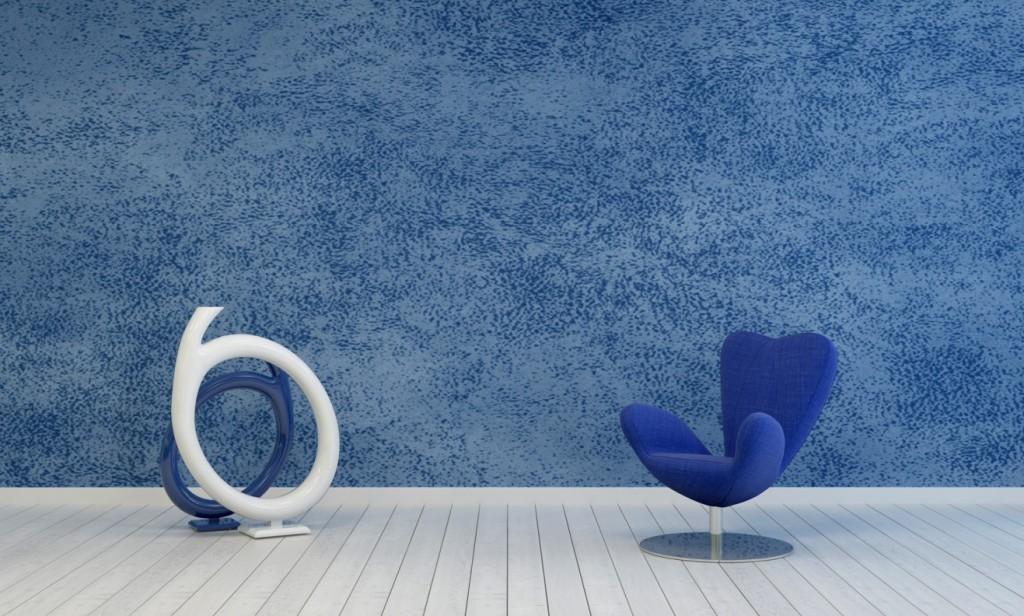 Strukturwirkung und schönes Wohnen: Farbliche Details kann man ganz simpel schon beim Streichen der Wand in Szene setzen. (#2)