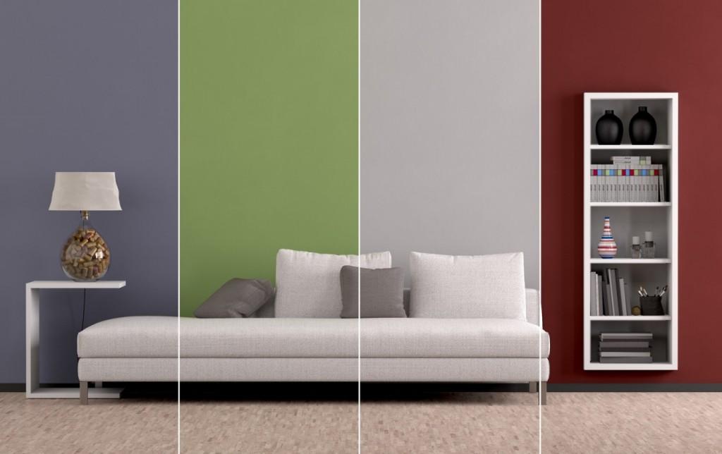 Verschiedene Farben wirken an der Wand je nach Lichteinfall anders. Das sollte man vor dem Streichen der Wand bedenken. (#5)