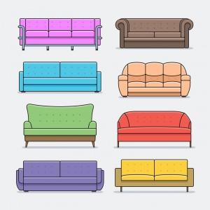 Verschiedene Sofas: Welches soll es denn sein? Welche Farbe, Form und Größe stehen zur Auswahl?  (#01)