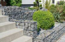 Doppelstabmatten für Haus und Garten.Gabionen im Garten die moderne Lösung einer Mauer