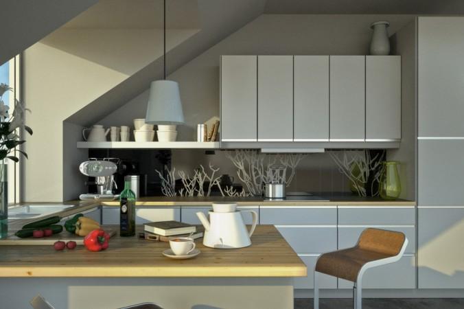 Eine Küche unter der Dachschräge geht nicht? - Geht doch! (#3)