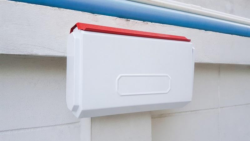 Generell sind die Briefkästen von außen erreichbar, lediglich in Mehrfamilienhäusern kommt es vor, dass die Briefkastenwand unten im Eingangsbereich zu finden ist. (#02)
