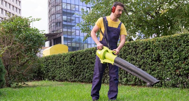 Fallen im Herbst welke Blätter von Bäumen und Büschen, bedeutet dies vor allem in großen Gärten eine Menge Arbeit.