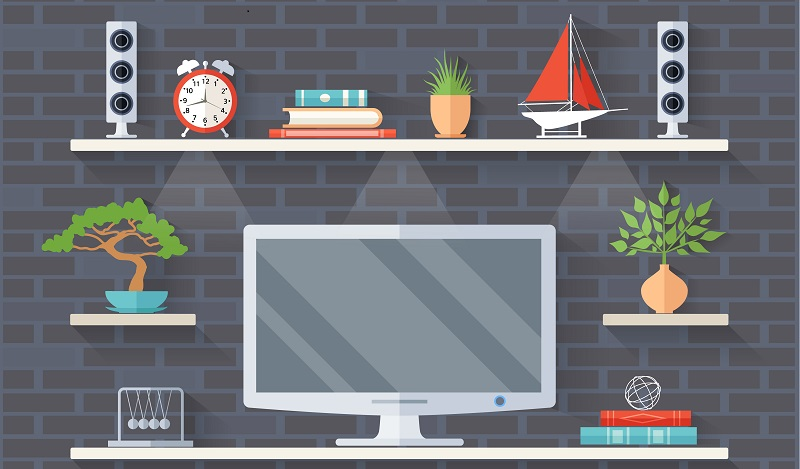 Ikea Hacks für den Schreibtisch: Ein einfaches Lack Wandregal wird zum Platz für den Monitor umgebaut. (#02)