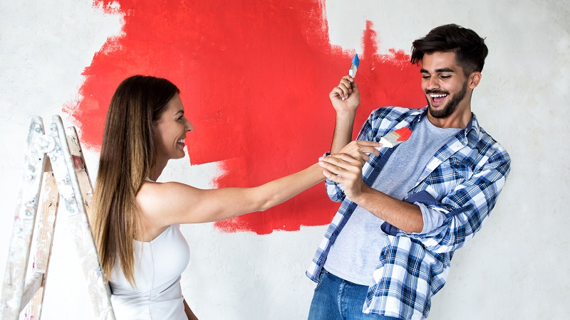 Wandfarben beeinflussen sehr stark, wie ein Raum wirkt. (#01)