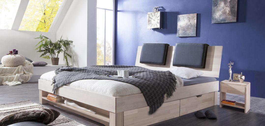 Futonbett: Die Liegefläche des Bettes sollte mindestens 30 bis 40 cm über dem Boden sein, denn im unteren Bereich von bis zu 20 cm befindet sich der meiste Staub.  (#08)