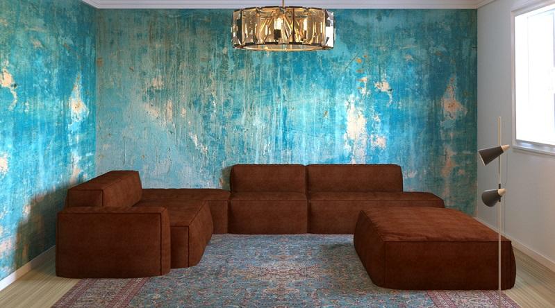 """Für den Homing-Trend braucht es jedoch sehr viel weniger davon. Für das Wohnzimmer bieten sich klassische """"Salonfarben"""" an. Das kann beispielsweise ein tiefes, sattes Grün sein oder auch ein ähnlich gelagertes Blau."""