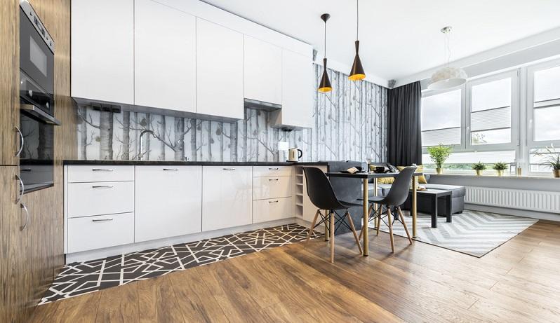 tapete schwarz wei neuer trend f r moderne wohnungen. Black Bedroom Furniture Sets. Home Design Ideas