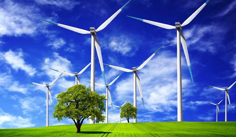 In vielen Gegenden Deutschlands ragen die eindrucksvollen Windräder in die Höhe. (#02)