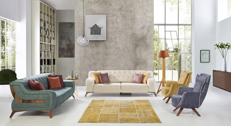 Sehr angesagt sind Tapeten in Steinoptik, mit denen der Raum völlig verändert werden kann. (#04)