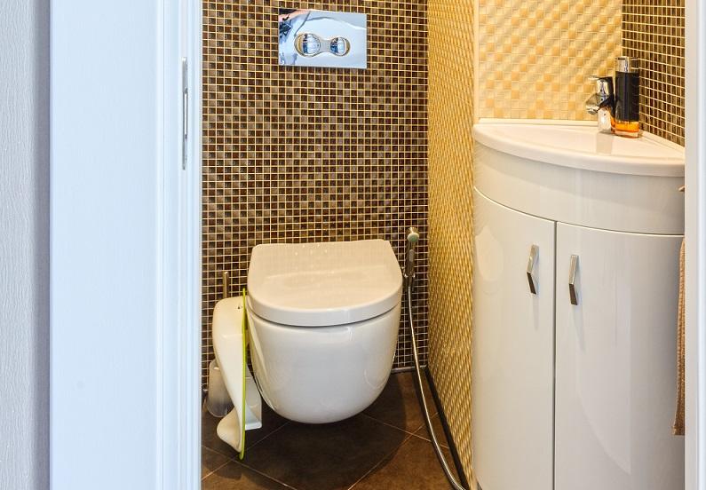 Gäste WC auf kleinstem Raum untergebracht