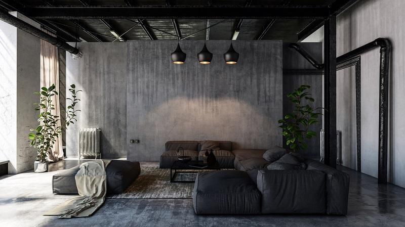 moderne Gestaltung der Wohnräume