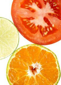 Ph-Sensoren in der Küche: Zitronensaft, Orangensaft & Tomatensaft haben unterschiedliche pH-Werte. (#01)