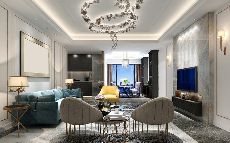 Beleuchtung im Wohnzimmer wie wäre es mit verspielt, blumig schöne?( Foto: Shutterstock-murattellioglu)