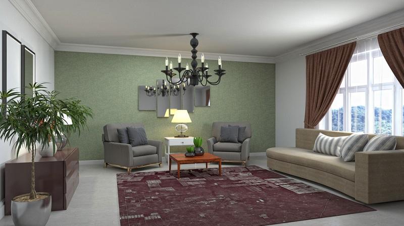 Beleuchtung im Wohnzimmer kann auch romantische Feeling schaffen. (Foto: Shutterstock-Interior Design)