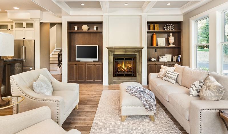 Ein schönes Beispiel für die wunderbare Integration von Deckenspots ins Wohnkonzept.( Foto: Shutterstock-Breadmaker )