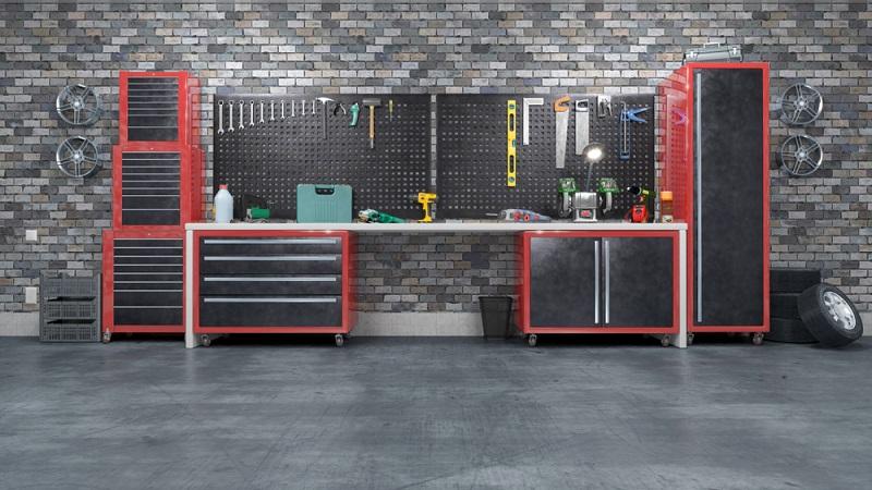 Eine Garage lässt sich für Werkzeug und vieles mehr nutzen ( Foto: Shutterstock-vipman)